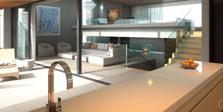 Dom o minimalistycznym wystroju ożywiony mocnymi barwami